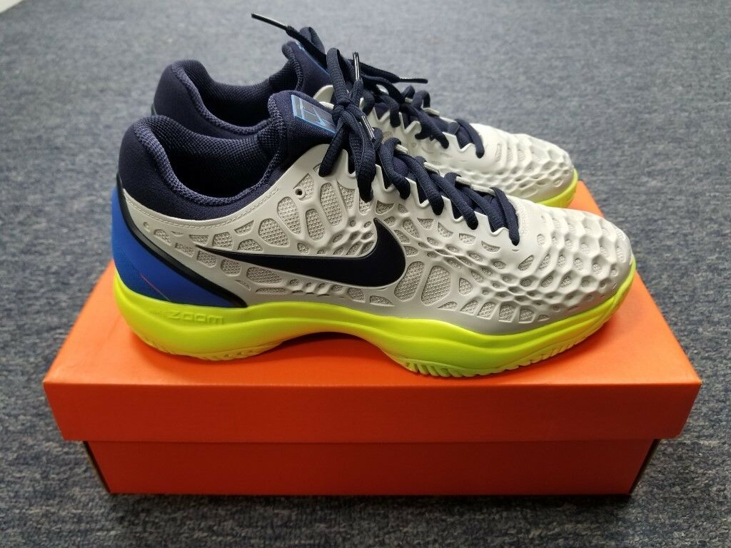12391a15635073 Men s Nike Air Zoom Cage Grey Lime blueee Tennis Size 8 shoes 3 ...