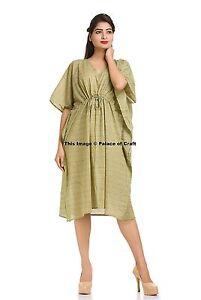 42357b66c9a Plus Size Casual New Printed Cotton Floral Short Maxi Dress Boho ...