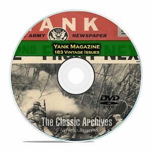 Yank-Magazine-183-Issues-1942-1945-WWII-GI-War-Military-Magazine-DVD-D30