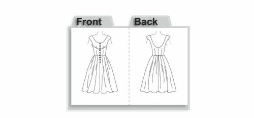 Vogue 2960 Vintage 1954 Dresses Pattern Size 4-10 or 12-18