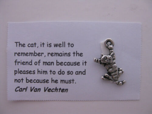 7 charms with cat quotes card and jewelry making Cat charms for scrapbooking