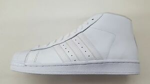 23dcdd39b7e Image is loading ADIDAS-ORIGINALS-PRO-MODEL-ALL-WHITE-LEATHER-MENS-