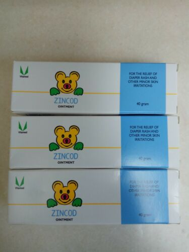 3 x Zincod Cream ionic Zinc For Prevention And Treatment of Diapers