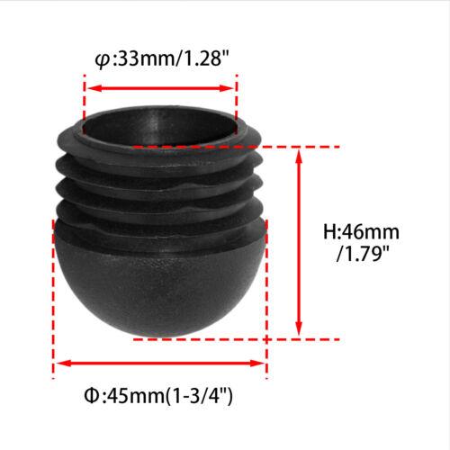 Flyshop Black Blanking End Cap Plastic Tube Insert Durable Round Furniture Glide
