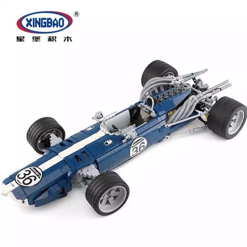 Xingbao 03022 azul Sonic coche de carreras de modelo de bloques de 1758 piezas compatible
