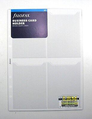 Filofax A5 size Business Card Holder Insert Organiser Refill 343616