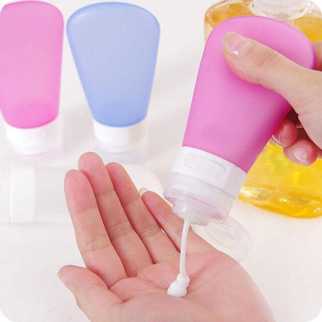 FT- Refillable Silicone Bottle Travel Kit Lotion Bath Shampoo Containers Rakish