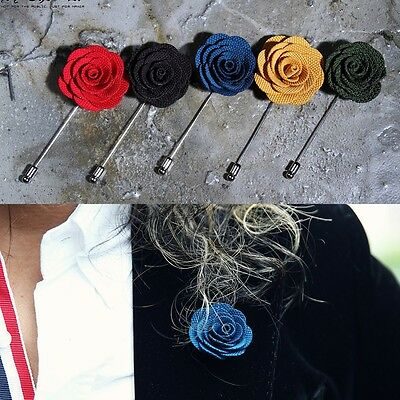 ByTheR Men's Vivid Color Rose Urban Trendy Modern Formal Boutonniere P000BFKK