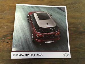 2016 All New Bmw Mini Cooper Clubman Color Brochure Catalog Prospekt