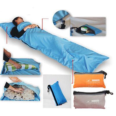 Sleeping Bag Liner Hostel Soft Travel Sleep Sack Sheet Backpack Hiking Camping