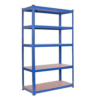 Scaffali Low Cost.5 Tier Heavy Duty Boltless Metal Shelving Shelves Storage Unit Garage Home Blue Ebay