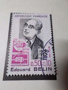 FRANCE-1972-timbre-1708-CELEBRITY-EDOUARD-BELIN-oblitere-VF-STAMP