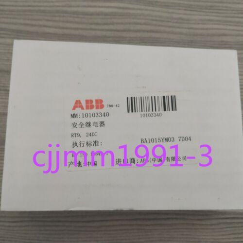1PC NEW ABB Safety Relay 2TLA010029R0000 RT9 24VDC
