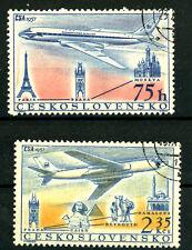 Tschechoslowakei_1957 Mi.Nr. 1042-1043 Flugzeuge TU 104