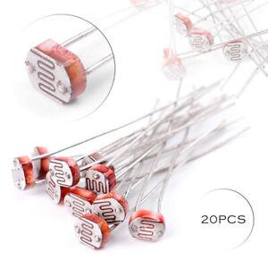 20pcs-Fotoresistenza-LDR-CDS-luce-resistore-dipendente-sesor-5mm-GL5516-Arduino