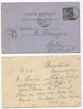 21952 - Ganzsache - Postkarte - Frankreich - Angouleme 22.11.1882 nach Berlin
