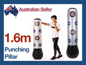 1-6m-Inflatable-Boxing-Buoy-Pillar-Bop-Bag-Fun-Toys-Adult-Punching-Grey-Children
