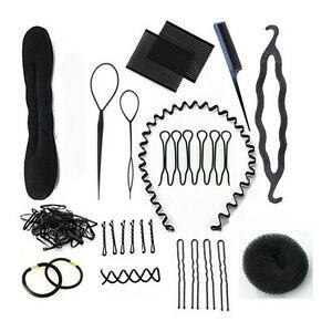 Hair-Styling-Accessory-Magic-Clip-Maker-Tools-Pads-Foam-Sponge-Bun-Donut-BH