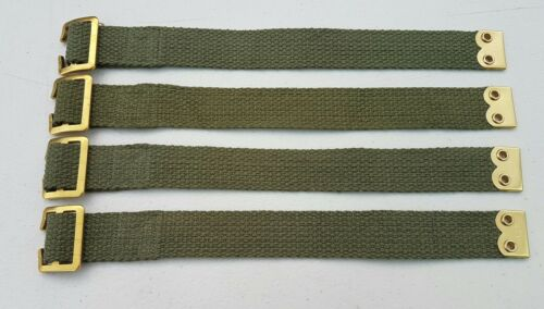 Land Rover Pioneer tool straps x4 Military Army Tailgate fixing straps canvas