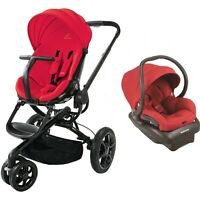 Quinny Moodd Travel System In Red Includes Stroller & Mico 30 Car Seat