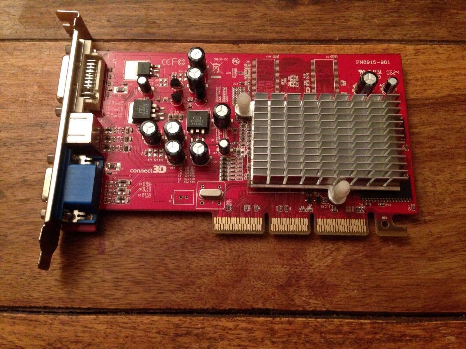 ATI Radeon SAPPHIRE 9250 SE DDR TV DVI 128MB Graphic Video Card GPU DVI VGA