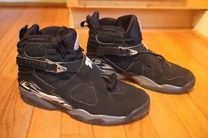 2f16f61e962a Nike Air Jordan Retro VIII 8 CHROME Black Graphite 305381-003 MEN S ...
