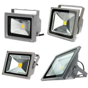 10W-20W-30W-50W-LED-Blanco-Calido-Exterior-Focos-Lampara-De-Pared-Luz-Reflector