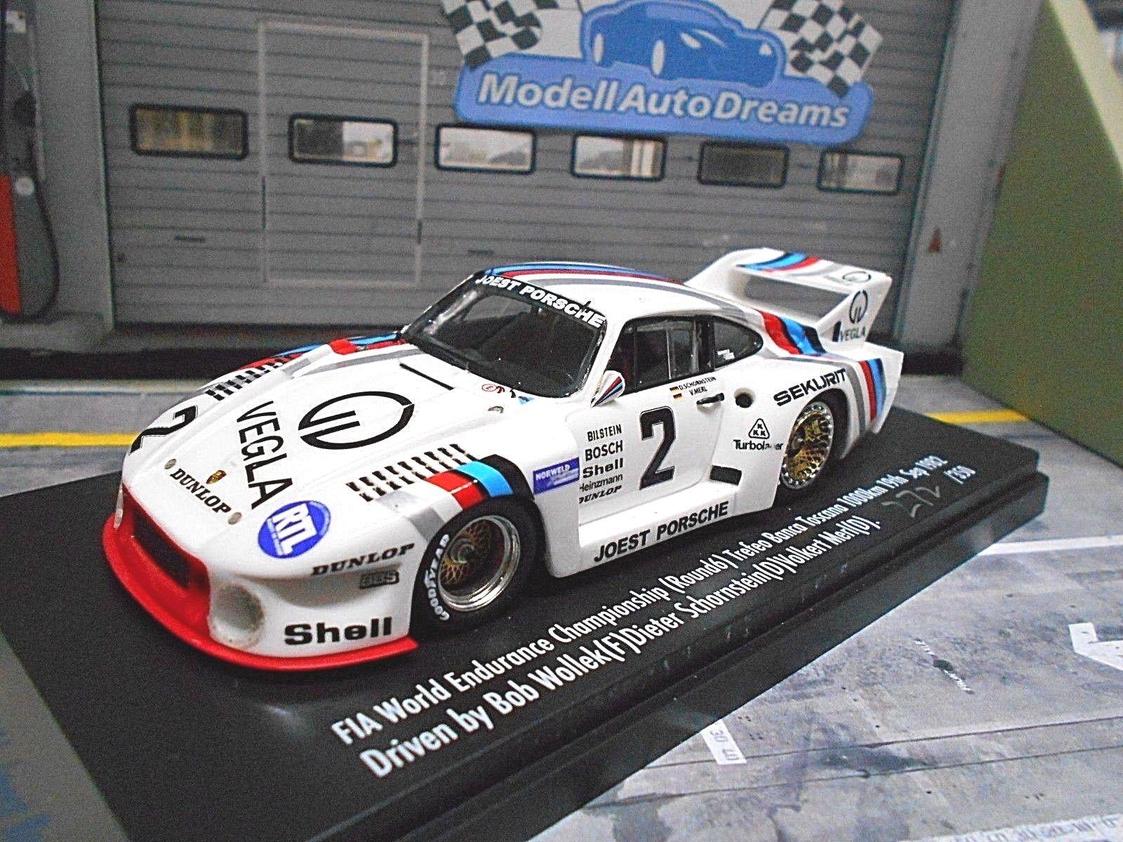 Porsche 935 Turbo Vegla Mugello 1982 Wollek cheminée Merl Spark Limit 1 43
