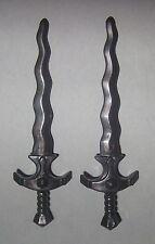 09333, 2x Schwert, Flammenschwert, antrazit