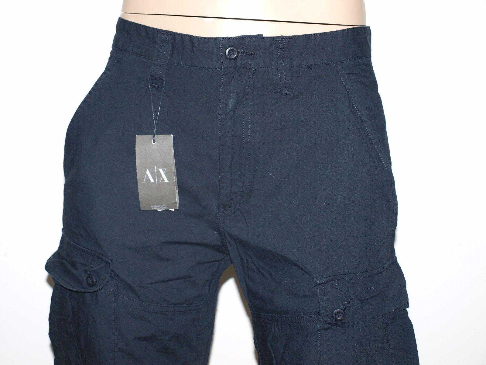 ARMANI EXCHANGE Authentic Utility Cotton Relaxed Cargo Pants NWT OT6P100VA