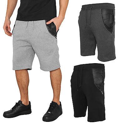 Brillant Urban Classics Side-zip Kunstleder Sweatshorts Trainingshose Short Hosetb982