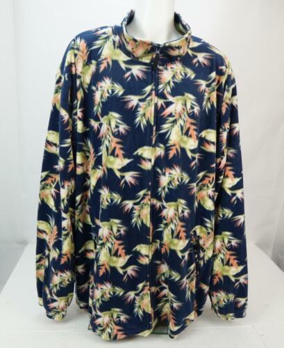 King Size Floral Printed Fleece Jacket Men's Full… - image 1