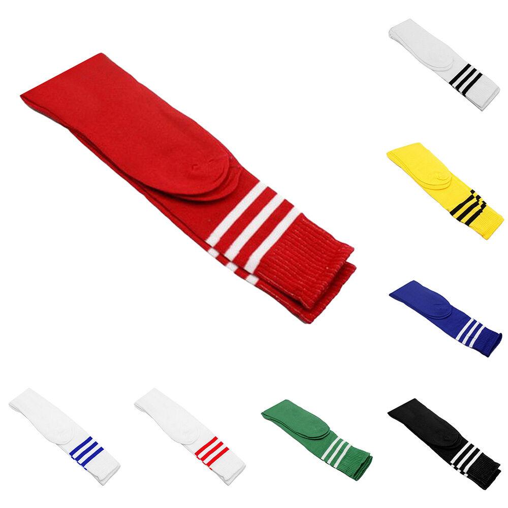 Eg _ Herren Damen Gestreift Stretch Fußball Sport Knielang Lange Socken Fun