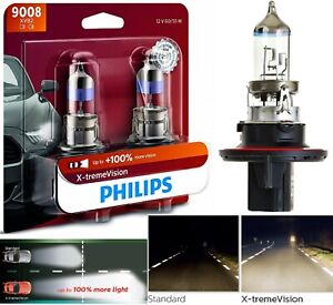 OpenBox Philips X-Treme Vision 9008 H13 60/55W Two Bulbs Head Light Dual Beam OE