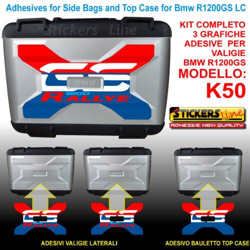 Kit 3 Adhésifs Sacs Valises K50 BMW R1200gs LC Rallye R1200 GS Stickers