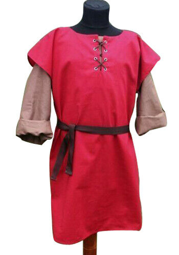 Medieval Tunic Red Style Amazing Super Mast Classic Clothing Theater 1