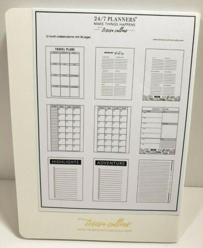 Teresa Collins 24//7 12 Month Undated Planner ~ 4 Varieties to Choose From