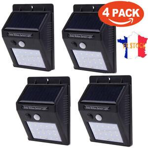LED-Solaire-Applique-Murale-PIR-Capteur-De-Mouvement-Jardin-Lumiere-Impermeable