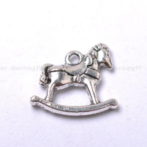 FREE SHIP 10pcs Tibetan Silver The Horse Charm Pendants 18X18MM E2042