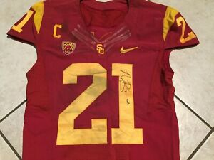 on sale dc943 5c394 Details about USC Nike authentic game issued & worn jersey & pants # 21  Nickell Robey