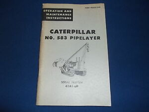cat caterpillar 583 pipelayer operation maintenance book manual s rh ebay com