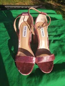 2a6ef0f9c1b Details about Steve Madden Carrson Dress Sandal NWOB 7.5 M Suede Mauve  Ankle Strap Block Heel