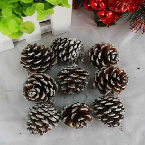 9pcs Christmas Tree Decorations Pinecone Hanging Home Xmas Party Ornament by Unbranded