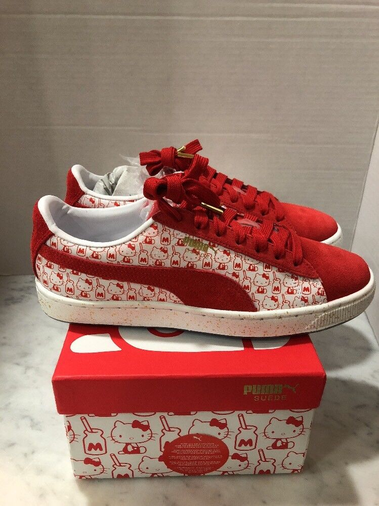 NIB Puma x Hello Kitty 50 Anniversary Suede Red White Women Size 8 SOLD OUT