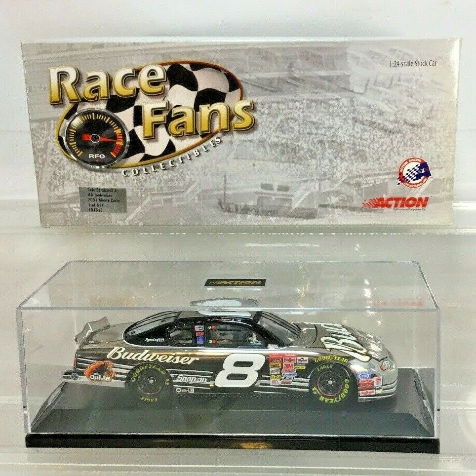 DALE EARNHARDT JR BUD PLATINUM FOR RACE FANS ONLY 1 24 DIECAST 2001