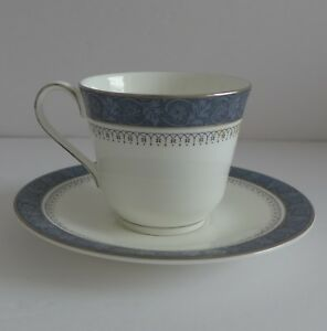 Royal-Doulton-Sherbrooke-Teacup-and-Saucer-Set-English-Bone-China