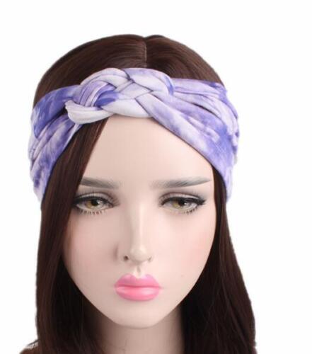 Headband Headwrap Twist Hairband Bow Knot Cross Tie Velvet Hair Band Hoop