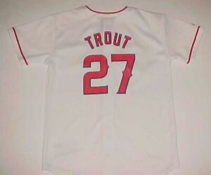 wholesale dealer b502b 44f95 Mike Trout #27 Los Angeles Angels MLB AL Boys White Red ...