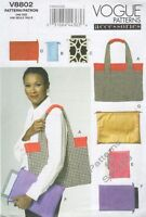 Pattern Vogue Sewing Woman Purse And Handbags 5 Options