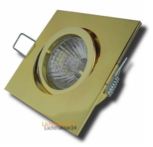 Dimmbare Einbauleuchten 1-/>10er Sets Einbaustrahler Square 230Volt Downlights